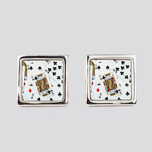 Spread out game cards Cufflinks