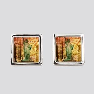cool statue of liberty Square Cufflinks