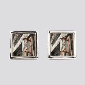 vintage barber shop pole Square Cufflinks