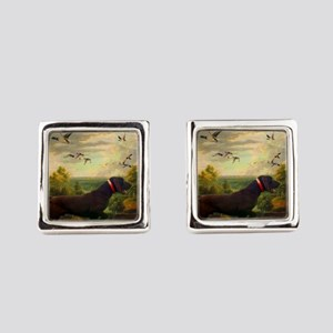 vintage hunting pointer dog Square Cufflinks