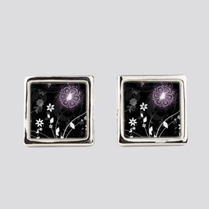 floral butterfly Square Cufflinks
