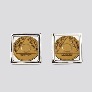 Alcoholics Anonymous Anniversary Chip Square Cuffl