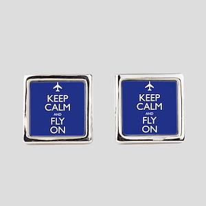 Keep Calm and Fly On Cufflinks