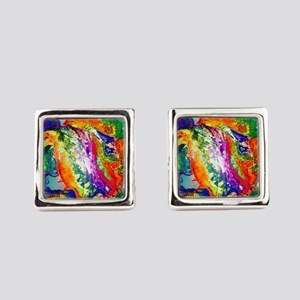 Action, abstract Cufflinks