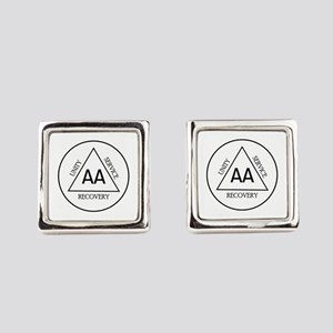UNITY RECOVERY SERVICE Square Cufflinks