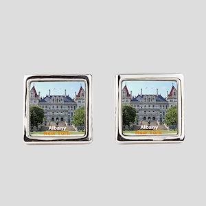 Albany New York Square Cufflinks