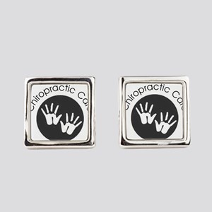 Chiropractic Care Hands Square Cufflinks