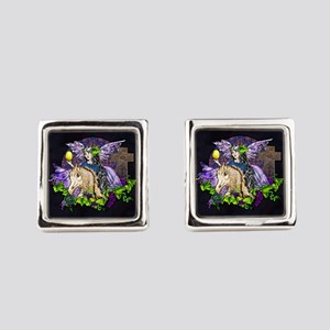Gothic Cross And Fairy Eve Square Cufflinks