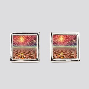 Space Portal To The Stars Square Cufflinks