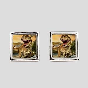 Predator Dinosaurs Square Cufflinks