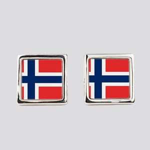Flag of Norway Square Cufflinks