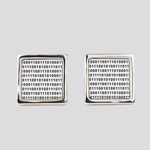 Binary Code 101 Square Cufflinks