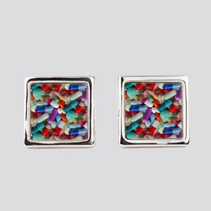 drugs pills Square Cufflinks