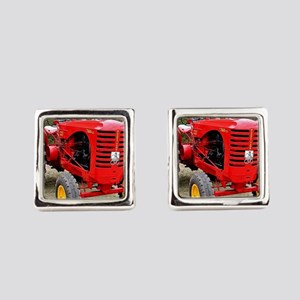 Old red tractor Square Cufflinks