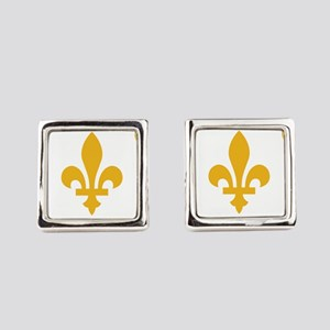 New Orleans Flag Square Cufflinks