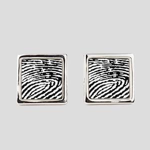 Fingerprints Square Cufflinks