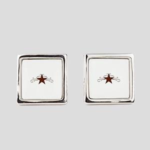 WESTERN STAR SCROLL Square Cufflinks