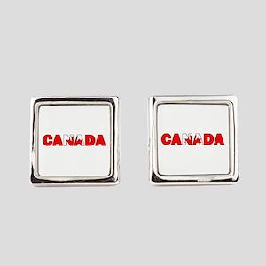 Canada 001 Square Cufflinks