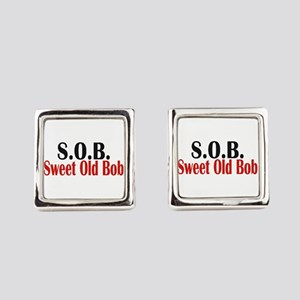 Sweet Old Bob - SOB Square Cufflinks