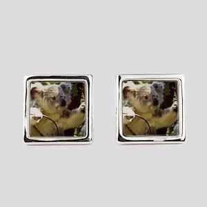 Sweet Baby Koala Square Cufflinks