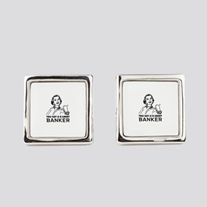 Gifts for Bankers. *BEST SELLER* Square Cufflinks