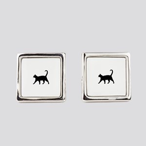 Black Cat Square Cufflinks