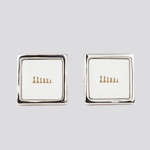 Chess Pieces Square Cufflinks