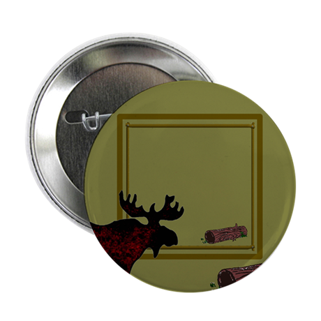 """Customized Photo Moose 2.25"""" Button (100 pack)"""