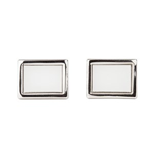 Silver Antiqued Queen of Hearts and Soldiers Alice in Wonderland Cufflinks