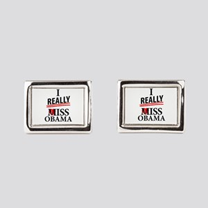 I Really Miss Obama Rectangular Cufflinks