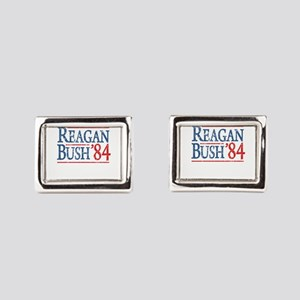 reagan bush 84 t shirt Rectangular Cufflinks