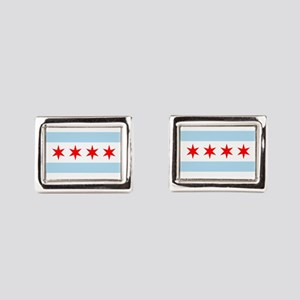 Chicago Flag Rectangular Cufflinks
