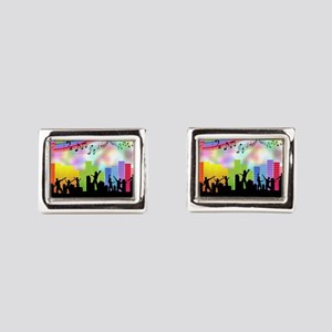 Colorful Musical Theme Rectangular Cufflinks