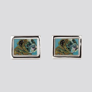 Olde English Bulldogge Rectangular Cufflinks