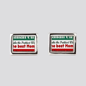 Italian Girls Rectangular Cufflinks