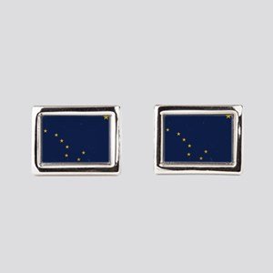 Alaska Flag Rectangular Cufflinks