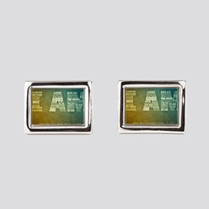 I AM Word Art Cufflinks