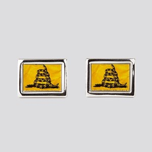 Don't Tread On Me Rectangular Cufflinks