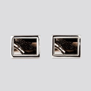 Music-Band-Sax Rectangular Cufflinks