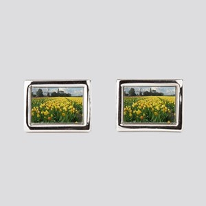 Holland Windmill and Tulips Cufflinks
