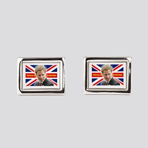 HRH Duke of Cambridge Rectangular Cufflinks