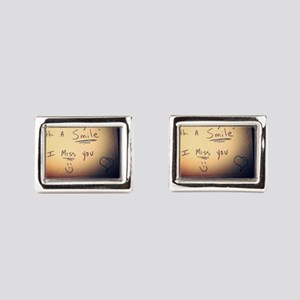 Peace begins with a smile I  Rectangular Cufflinks