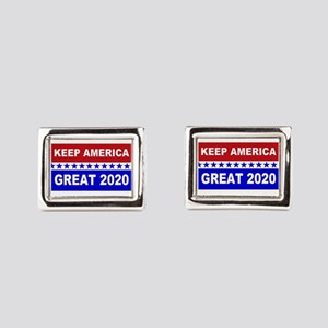 Keep America Great 2020 Rectangular Cufflinks