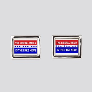 Liberal Fake News Rectangular Cufflinks