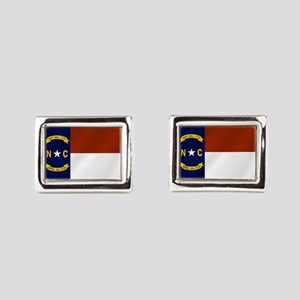 North Carolina Flag Rectangular Cufflinks
