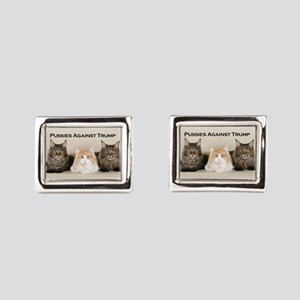 Pussies Against Trump Rectangular Cufflinks