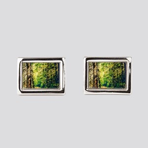 Sunlit Trail Rectangular Cufflinks