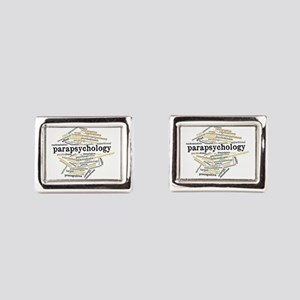 Parapsychology Wordle Rectangular Cufflinks