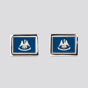 State Flag of Louisiana Rectangular Cufflinks