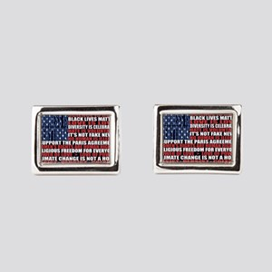 Political Protest American F Rectangular Cufflinks